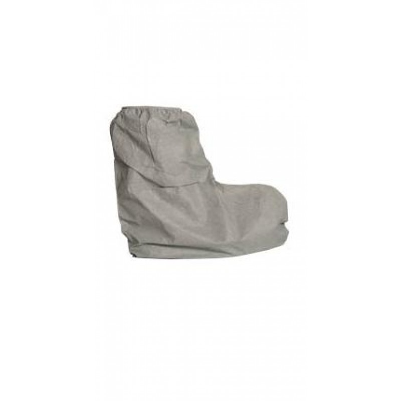 DuPont™ Tyvek Boot Covers 21ʺ High Top, Serged Seams, Skid Resistant Seam Gray Color 50/Pairs