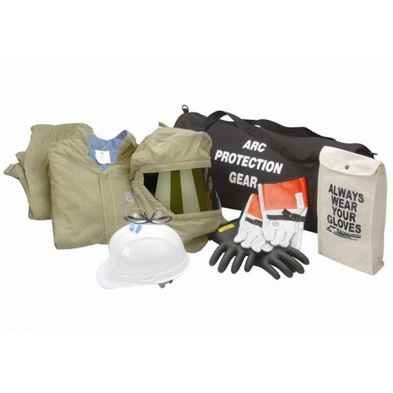 chicago protective apparel ag44 arc flash jacket and bib kit, olive