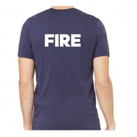 Sprighten Fire Logoed T-Shirt, Dark Navy