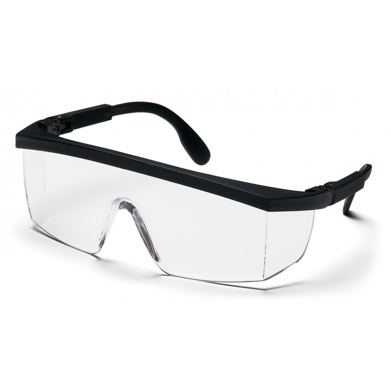 Pyramex Safety - Integra - Black-Ratchet Frame/Clear Lens Polycarbonate Safety Glasses - 12 / BX