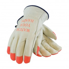 PIP Superior Grade Leather Hi-Vis Glove - Keystone Thumb 120/Pairs