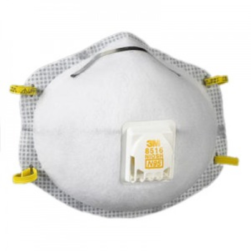3M™ Particulate Respirator 8516, N95, with Nuisance Level Acid Gas Relief (Box of 10)