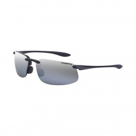 Radians ES4 Silver mirror Polarized Black Frame Safety Glasses 12 PR/Box