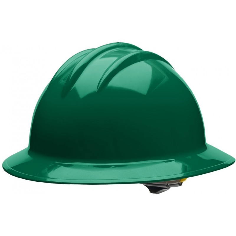 Bullard C34 34FGR 6pt Ratchet Classic Extra Large Full Brim Style Forest Green Hard Hat 20/Case