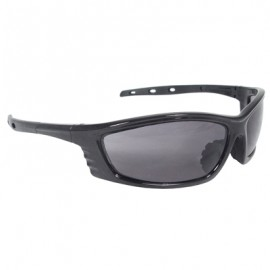 Radians Chaos Safety Glasses - Black Frame, Smoke Lens