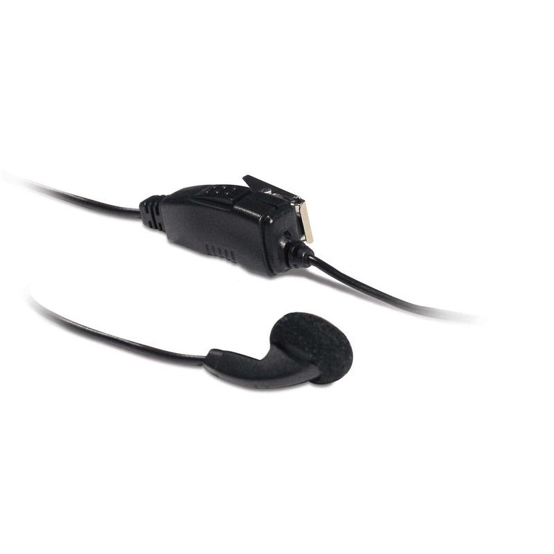 Headset with Earbud and Clip Microphone