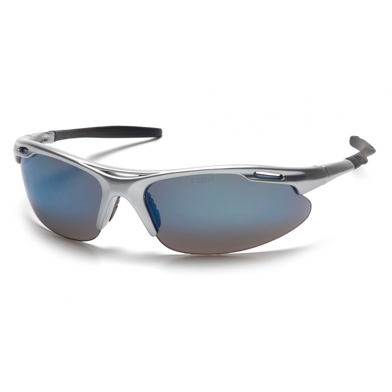 Pyramex Safety - Avante - Silver Frame/Ice Blue Lens Polycarbonate Safety Glasses - 12 / BX