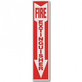 Brooks Fire Extinguisher Plastic Sign 4 in x 18 in