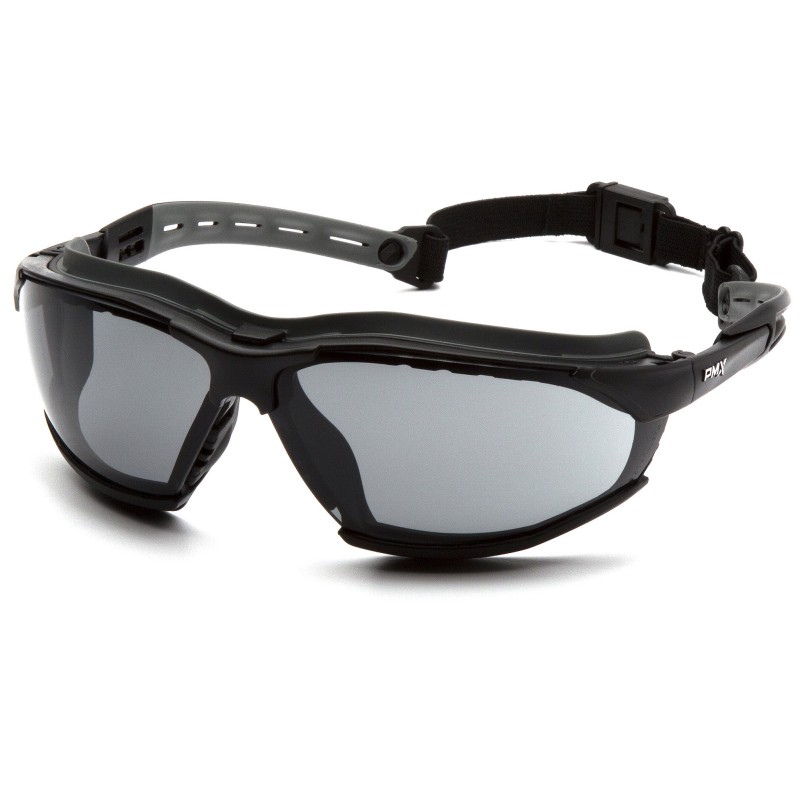 Pyramex Isotope BlackGray Body / Gray H2MAX AF Lens Safety Glasses 12/BX
