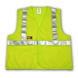Tingley V81622.4X-5X Class 2 FR Vest Fluorescent Yellow-Green