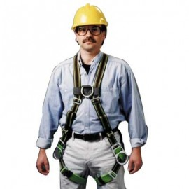 Miller DuraFlex Stretchable Harness with Buckle Leg Straps and Front and Side D-Rings