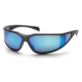 Pyramex  Exeter  Charcoal Gray Frame/Ice Blue Mirror AntiFog Lens  Safety Glasses  12/BX