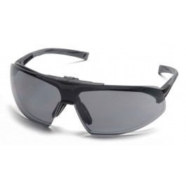 Pyramex  Onix Plus  Black Frame/Clear AntiFog Bottom Lens/ Gray Flip Lens  Safety Glasses  12/BX