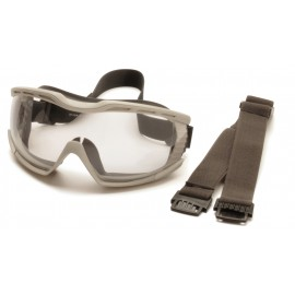 Pyramex  Capstone  Chem Splash Clear Anti Fog 2 Straps Polycarbonate Safety Glasses  1 / EA