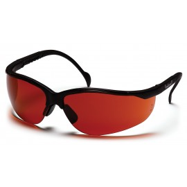 Pyramex Safety - Venture II - Black Frame/Sun Block Bronze Lens Polycarbonate Safety Glasses - 12 / BX