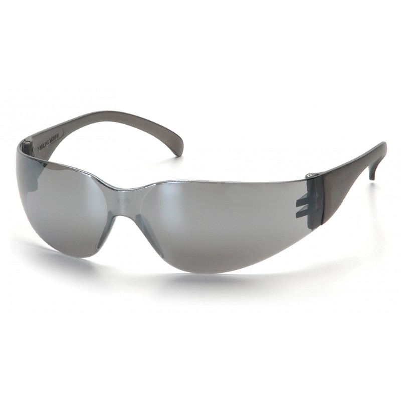 Pyramex Safety - Intruder - Silver Mirror Frame/Silver Mirror-Hardcoated Lens Polycarbonate Safety Glasses - 12 / BX