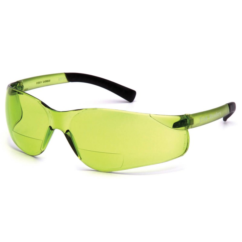 Pyramex Safety - Ztek Readers - Pale Gree Frame/IR 1.5 Pale Green + 1.5 Lens Polycarbonate Safety Glasses - 6 / BX