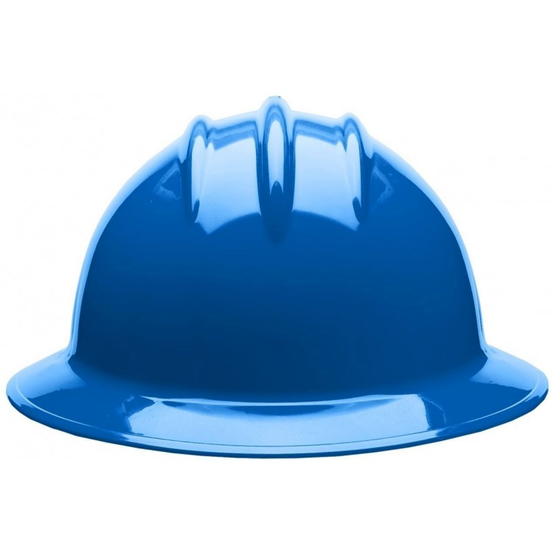 Bullard C33 33PBR 6pt Ratchet Classic Full Brim Style Pacific Blue Hard Hat 20/Case