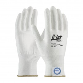 PIP 19-D325/XS G-Tek Seamless Knit Dyneema Diamond Blended Glove with Polyurethane Coated Smooth Grip on Palm & Fingers XS 6 DZ