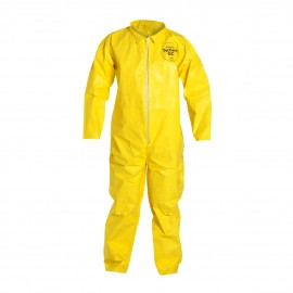 DuPont™ QC120S YL Tychem QC Coveralls - Serged Seams Yellow Color 12/Case