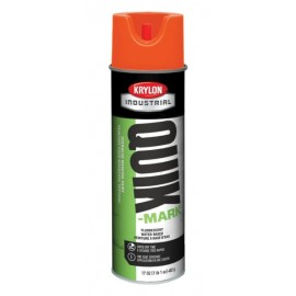 Krylon QUIK-MARK™ Overhead Marking Paint  12 Cans Fluorescent Red/Orange