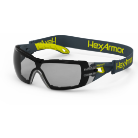 HexArmor MX200G Dual Action Anti-Fog Scratch Resistant  Safety Glasses TruShield™S Gray Lens Gray Color - 12 / Box