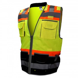 Radians SV55B Class 2 Heavy Woven Color Blocked Two Tone Engineer Vest