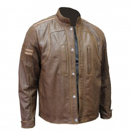 CPA Leather Moto Jacket, Brown Color 1/ EA