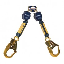 DBI-Sala Nano-Lok Twin-Leg Quick Connect Self Retracting Lifeline - 3101277 - Web - 6 ft - Aluminum Rebar Hooks