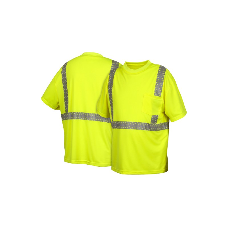 Pyramex RTS23 Short Sleeve Moisture Wicking T-Shirt  Hi-Vis- 1 Each