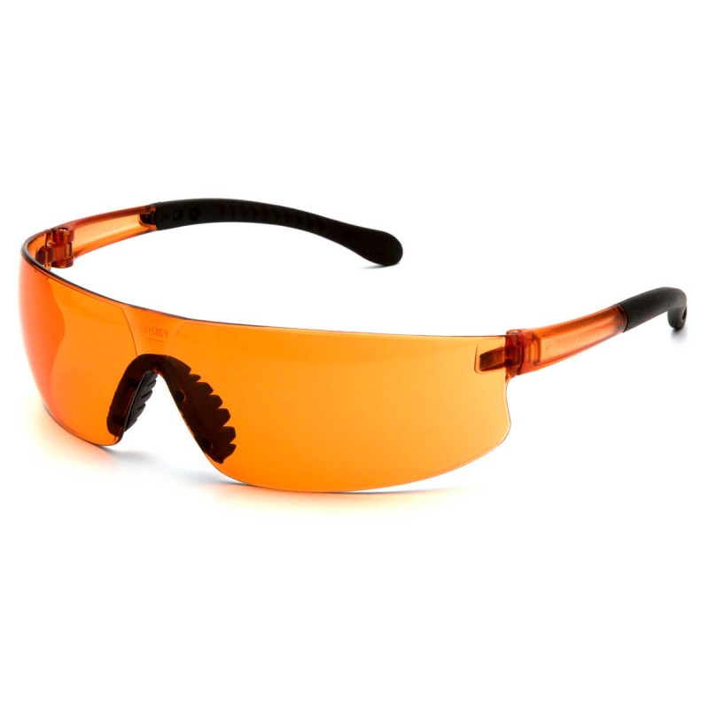 Pyramex Safety - Provoq - Orange frame/orange lens Polycarbonate Safety Glasses - 12 / BX