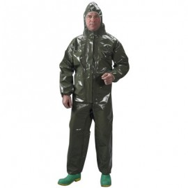 Tychem LV Coveralls with Respirator Fit Hood, Elastic Wrists, Ankles and Face