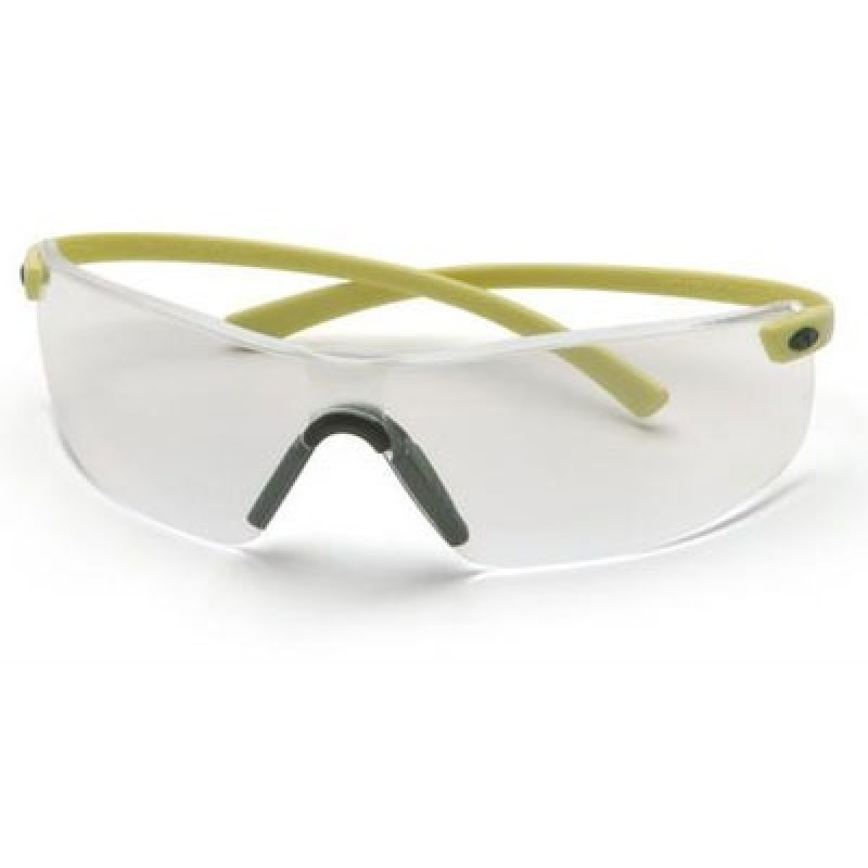 Pyramex Montego Safety Glass - Clear Lens with Hi-Vis Temples