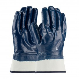 PIP 56-3154/L PIP Nitrile Dipped Glove with Jersey Liner and Smooth Finish on Full Hand Plasticized Safety Cuff Large 6 DZ