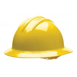 Bullard® Yellow HDPE Full Brim Hard Hat With 6 Point Pinlock Suspension