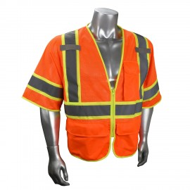 Radians SV272-3 Safety Vest Class 3 Multipurpose Surveyor Mesh with Zipper (1 EA)