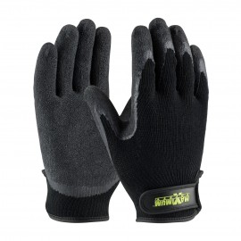 PIP 39-C1375/L Maximum Safety Seamless Knit Cotton / Polyester Glove with Latex Coated Crinkle Grip on Palm & Fingers Hook & Loop Closure Large 6 DZ