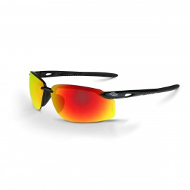 Radians ES5W Fire Mirror Black Safety Glasses 12 PR/Box