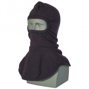 Salisbury AFHOOD12 Over The Head Flame Resistant Balaclava, Nomex Material Blue Color One Size - 1 / EA
