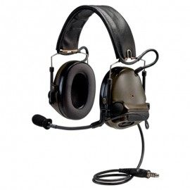 Peltor ComTac ACH ARC Communication Headset, Dual Comm, Single Downlead Split Audio - OLIVE DRAB GREEN