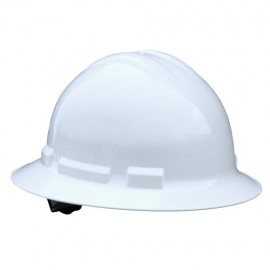 Radians Quartz 6 Point Ratchet Suspension Full Brim Hard Hats White Color  (1 Each)