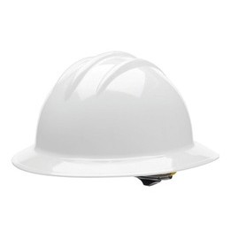 Bullard® White HDPE Full Brim Hard Hat With 6 Point Rachet Suspension
