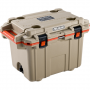 Pelican Elite Coolers 70QT Elite Cooler Tan/Orange | PL-70Q-2-TANORG