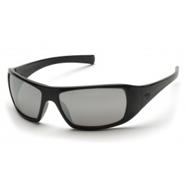 Pyramex  Goliath  Black Frame/Silver Mirror Lens  Safety Glasses  12/BX