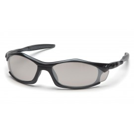 Pyramex Safety - Solara - Black Frame/Indoor/Outdoor Mirror Lens Polycarbonate Safety Glasses - 12 / BX