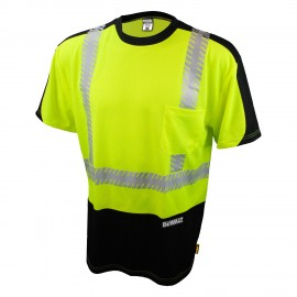 Radians Dewalt  Moisture Wicking Shirt Hi-Vis Yellow Color  - 1 Each