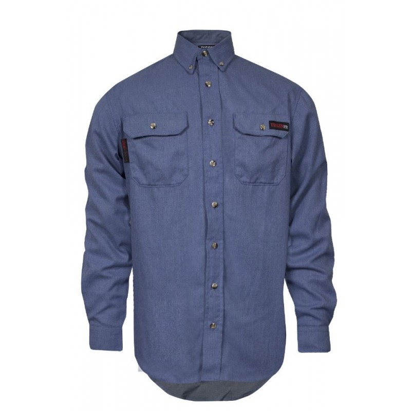 NSA TCG011902 TECGEN SELECT FR Work Shirt Light Blue