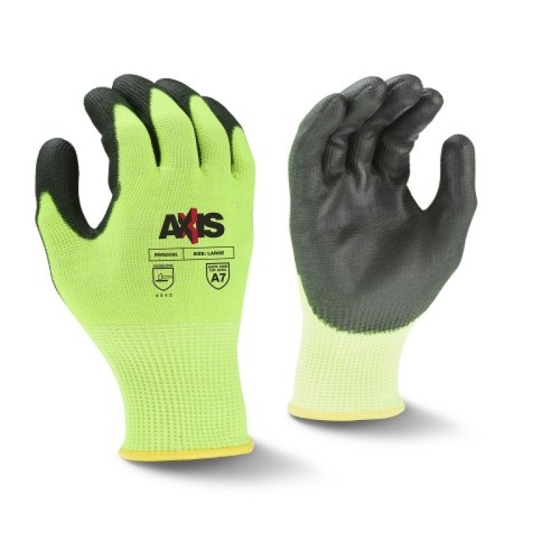 Radians Axis RWG558 Work Gloves, Cut Level A7, PU Coated (1 DZ)