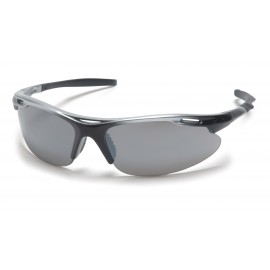 Pyramex  Avante  Silver Black Frame/Silver Mirror Lens  Safety Glasses  12/BX