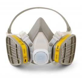 3M™ Half Facepiece Disposable Respirator Assembly 5203, Organic Vapor/Acid Gas, Medium